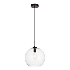 Placido Black 11-Inch One-Light Pendant