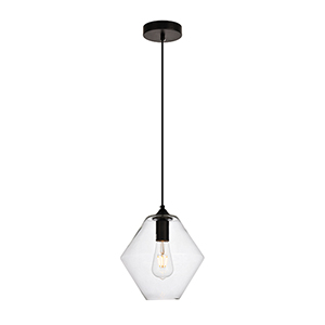 Placido Black 10-Inch One-Light Mini Pendant