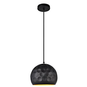 Clio Matte Black Nine-Inch One-Light Mini Pendant
