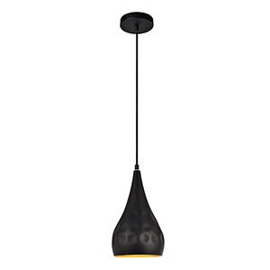 Clio Matte Black 11-Inch One-Light Mini Pendant