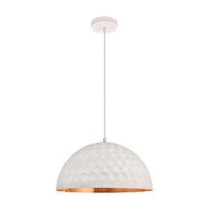 Clio Frosted White and Gold Leaf 15-Inch One-Light Pendant