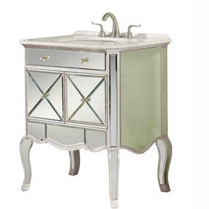 Camille Silver Leaf 30-Inch Vanity Sink Set