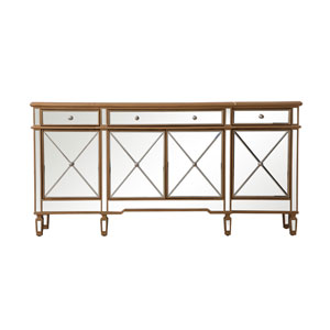 Contempo Gold 72-Inch Sideboard