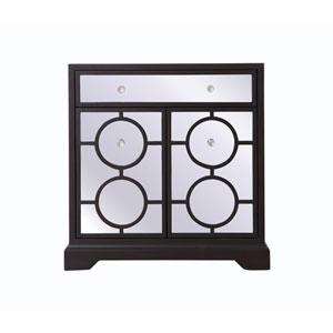 Modern Dark Walnut 32-Inch Cabinet