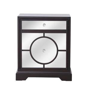 Modern Dark Walnut 24-Inch Cabinet