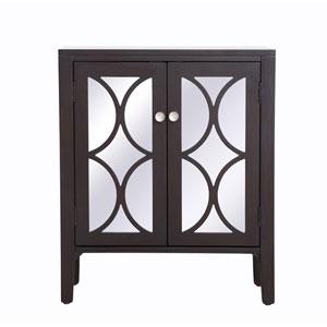 Modern Dark Walnut 28-Inch Cabinet