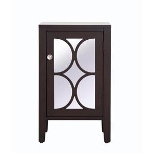 Modern Dark Walnut 18-Inch Cabinet