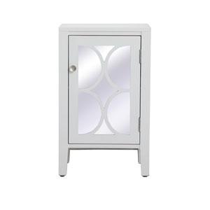 Modern White 18-Inch Cabinet