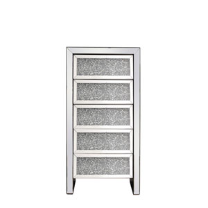 Modern Silver 24-Inch Cabinet