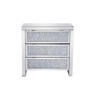 Modern Silver 32-Inch Cabinet