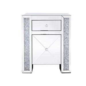 Modern Silver Crystal 22-Inch Cabinet