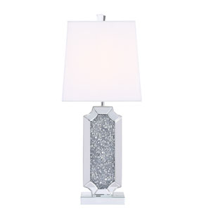 Sparkle Chrome with Silver Crystal 13-Inch One-Light Table Lamp