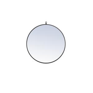 Eternity Black 28-Inch Round Mirror