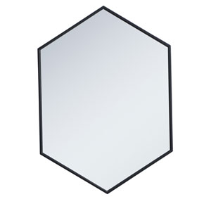 Eternity Black 24-Inch Hexagon Mirror