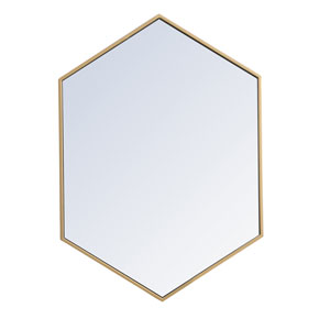 Eternity Brass 24-Inch Hexagon Mirror