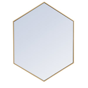 Eternity Brass 30-Inch Hexagon Mirror