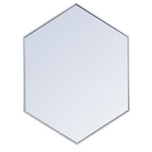 Eternity Silver 30-Inch Hexagon Mirror