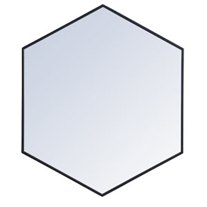Eternity Black 38-Inch Hexagon Mirror