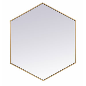 Eternity Brass 38-Inch Hexagon Mirror