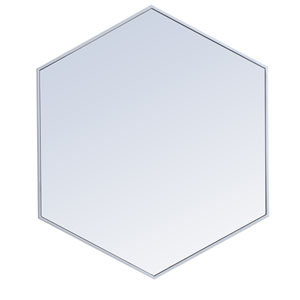 Eternity Silver 38-Inch Hexagon Mirror
