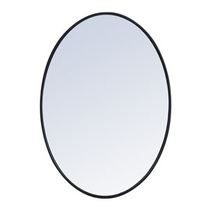 Eternity Black 34-Inch Oval Mirror