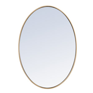 Eternity Brass 34-Inch Oval Mirror