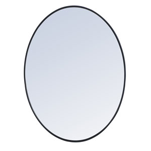 Eternity Black 40-Inch Oval Mirror