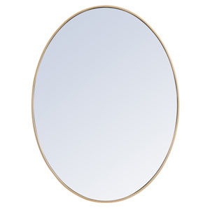 Eternity Brass 40-Inch Oval Mirror
