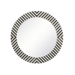 Colette Chevron 24-Inch Round Mirror