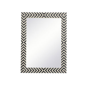 Colette Chevron 24 x 32 Inches Rectangular Mirror