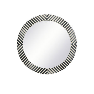 Colette Chevron 28-Inch Round Mirror