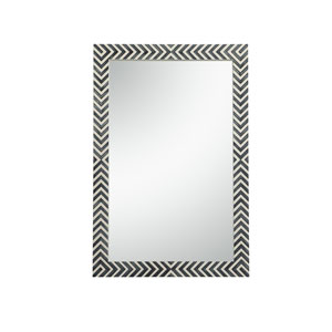 Colette Chevron 28 x 42 Inches Rectangular Mirror