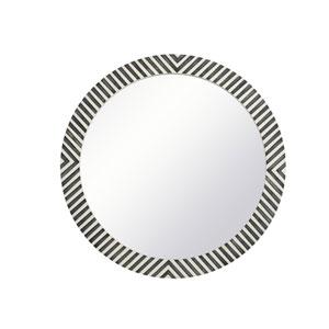 Colette Chevron 32-Inch Round Mirror