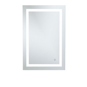 Helios Silver 36 x 24 Inch Aluminum Touchscreen LED Lighted Mirror