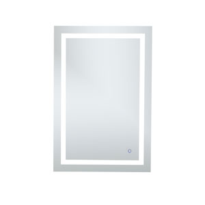 Helios Silver 40 x 27 Inch Aluminum Touchscreen LED Lighted Mirror