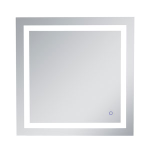 Helios Silver 30 x 30 Inch Aluminum Touchscreen LED Lighted Mirror