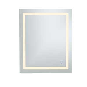 Helios Silver 36 x 30 Inch Aluminum Touchscreen LED Lighted Mirror