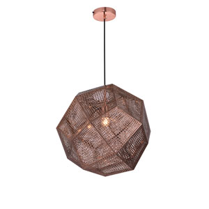 Kronos Copper 19-Inch One-Light Pendant