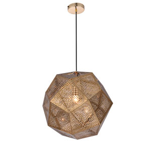 Kronos Gold 19-Inch One-Light Pendant