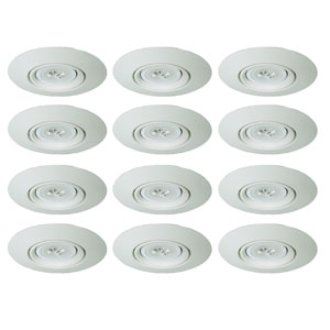 Matte White Five-Inch Gimbal Recessed Trim, Pack of 12