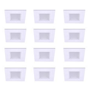 Gaige Matte White 4-Inch 3000K LED Recessed Retrofit Trim, Pack of 12