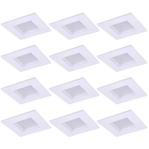 Gaige Matte White 4-Inch 5000K LED Recessed Retrofit Trim, Pack of 12