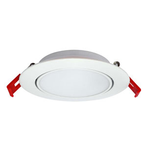 White 4-Inch 5000K LED Recessed Slim Light