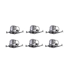 Glossy White Non-Insulated Contact Housing, Pack of Six