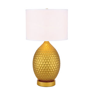 Miel Gold 16-Inch One-Light Table Lamp
