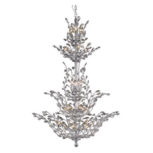 Orchid Chrome 25-Light Chandelier with Clear Spectra Crystal