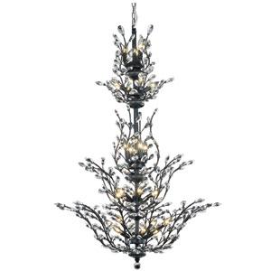Orchid Dark Bronze 25-Light Chandelier with Clear Elegant Cut Crystal