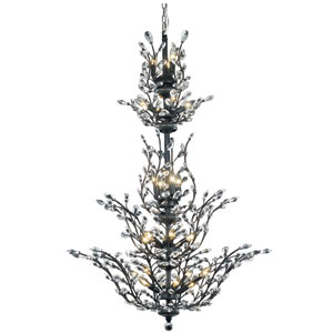 Orchid Dark Bronze 25-Light Chandelier with Clear Spectra Crystal
