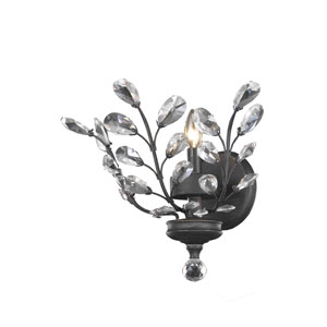 Orchid Dark Bronze with Clear Elements Crystal 16-Inch One-Light Wall Sconce