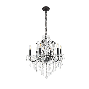 St. Francis Dark Bronze Six-Light Chandelier
